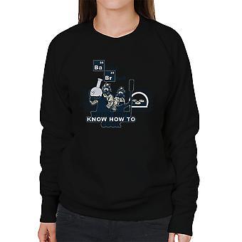 Bagning brød når drenge ved hvordan man kokken Breaking Bad kvinders Sweatshirt
