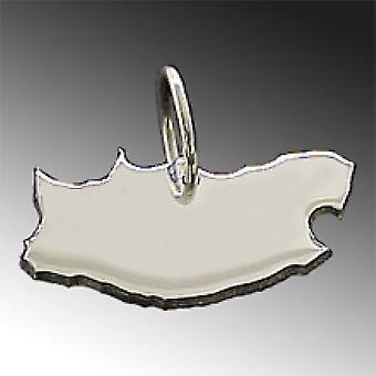 Trailer map South Africa pendant in solid 925 Silver