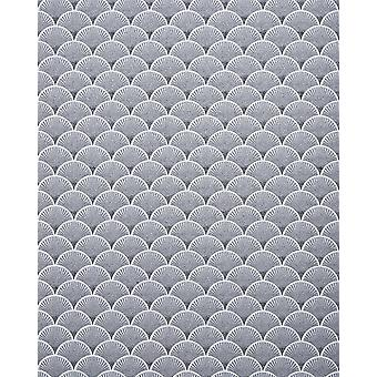 Retro wallpaper EDEM 1031-16 vinyl wallpaper imprinted with graphic pattern white sparkling silver 5.33 m2