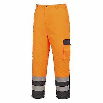 Portwest - Hi-Vis Outdoor Workwear Contrast All Weather Trousers - Lined