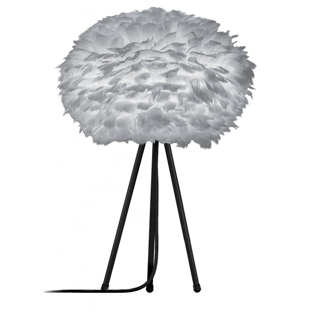 Vita Copenhagen Eos Tripod Table Lamp - Light Grey Feather Eos Medium/Black Tripod