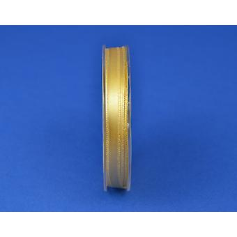 7mm Polyester Satin Craft Ribbon - 10m Reel - Matt Gold