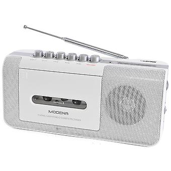Lloytron Modena Portable Radio Cassette Recorder with 2 Band (N8103WH)