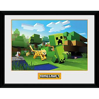 Minecraft Ocelot Chase Collector Print