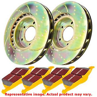 EBC Brake Kit - S5 Yellowstuff and GD Rotors S5KF1191 Fits:CHEVROLET  2003 - 20