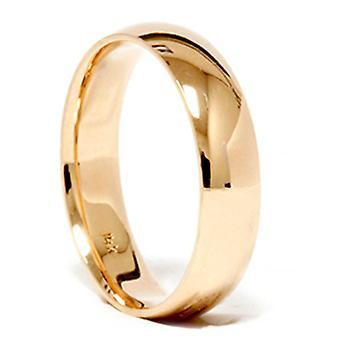 Høy polert klassisk bryllup Band 14K gult gull