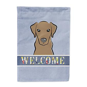 Carolines Treasures  BB1420CHF Chocolate Labrador Welcome Flag Canvas House Size