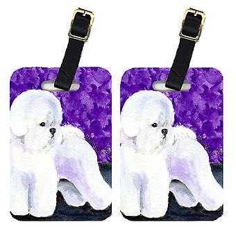 Carolines Treasures  SS8692BT Pair of 2 Bichon Frise Luggage Tags