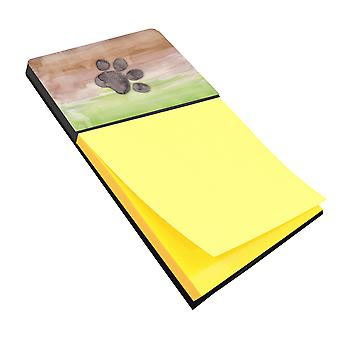 Carolines Treasures  BB7359SN Dog Paw Watercolor Sticky Note Holder