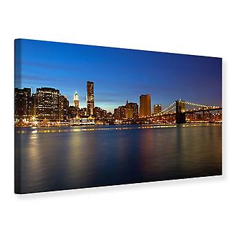 Leinwand drucken Skyline Manhattan in das Lichtermeer