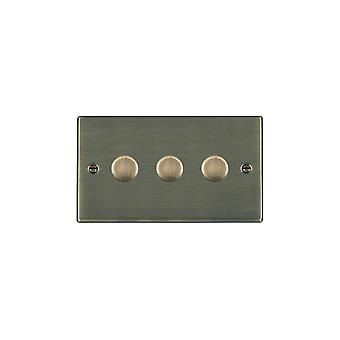 Hamilton Litestat Hartland Antique Brass 3g 250W Multi-Way Dim AB