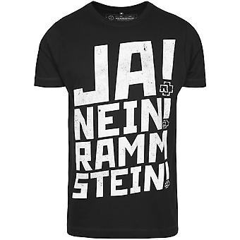 Rammstein shirt - yes no black