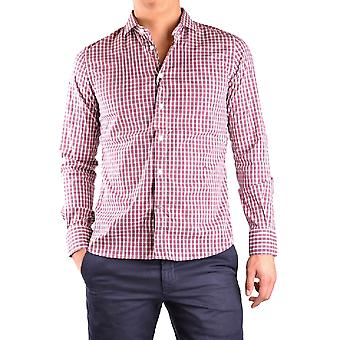 Peuterey men's MCBI235039O white/red cotton shirt