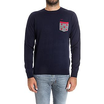 Sun 68 men's 2717407 blue wool sweater