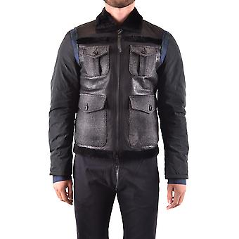 Dsquared2 men's MCBI107237O black leather jacket