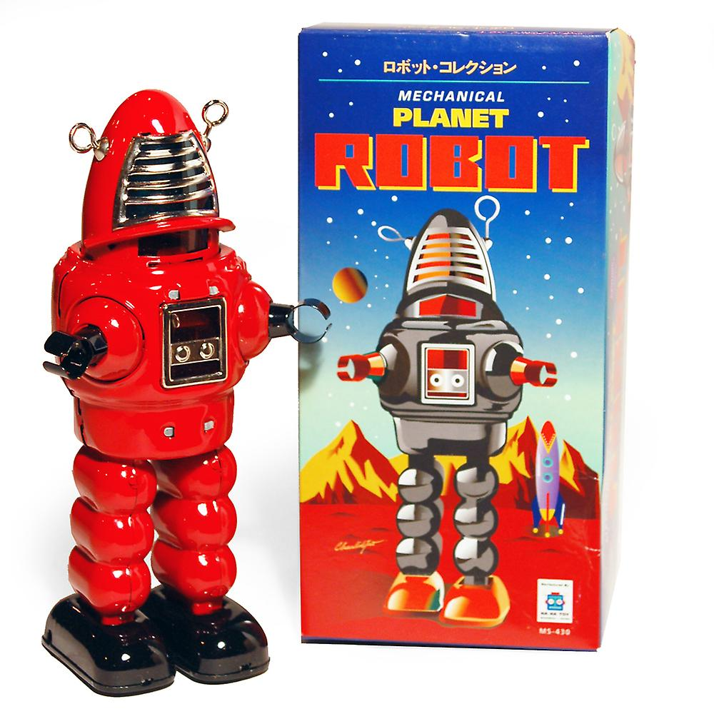 Robot Robby style Space - Retro Tin ornement de collection - rouge