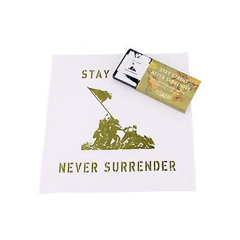 CGB Giftware Kit Bag Never Surrender Handkerchiefs (Set Of 2)