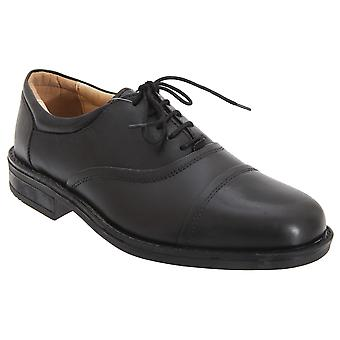 Roamers Mens Softie Leather Blind Eye Flexi Capped Oxford Shoes