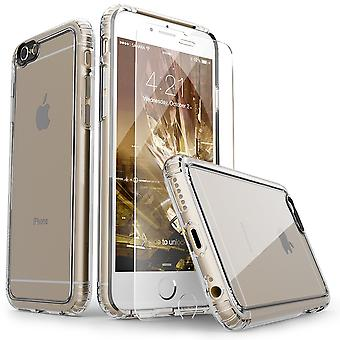 SaharaCase® iPhone 6/6s Plus caja de cristal, paquete de Kit de protección claro con ZeroDamage® vidrio templado
