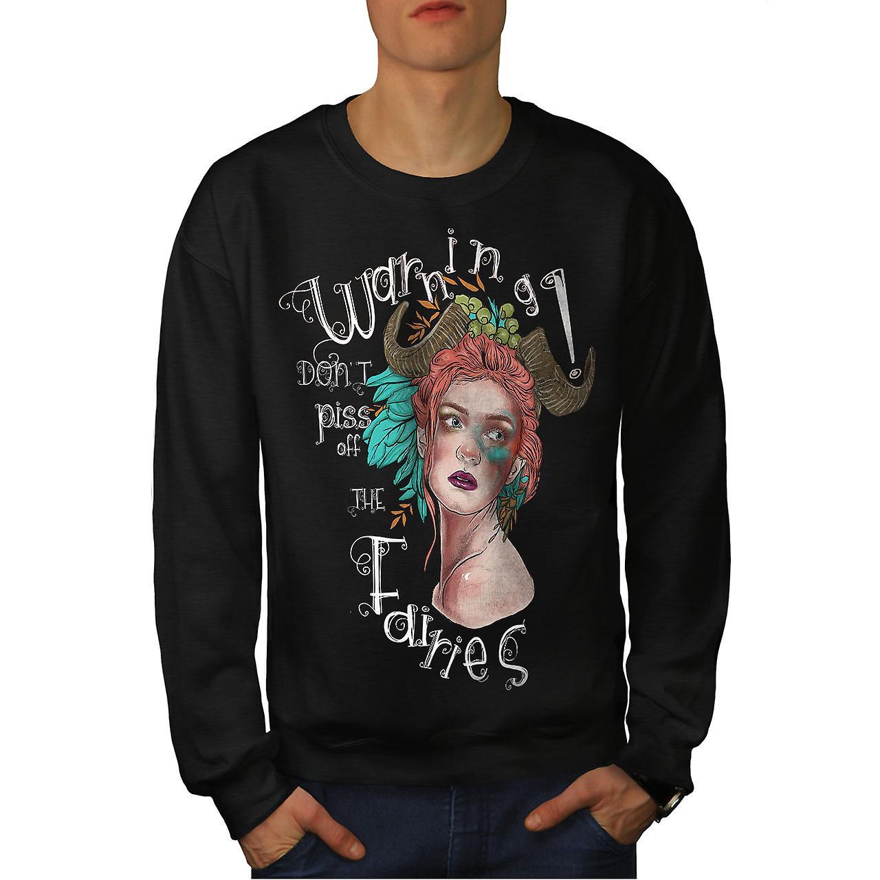 AvertISSEMENT fées mode pour hommes noirSweatshirt