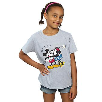 Disney Girls Mickey Mouse Mickey and Minnie Kiss T-Shirt