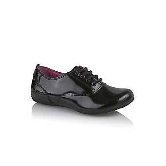 Kickers Kickers Verda Lace Black Patent School Shoe