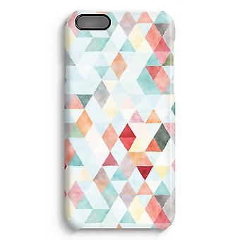 iPhone 6 Plus Full Print Case (Glossy) - Coloured triangles pastel