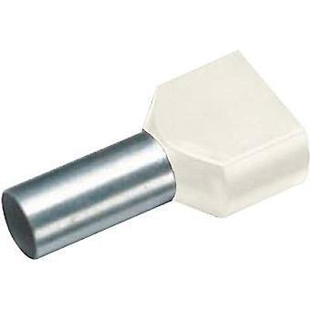 Twin ferrule 2 x 10 mm² x 14 mm Partially insulated Ivory Cimco