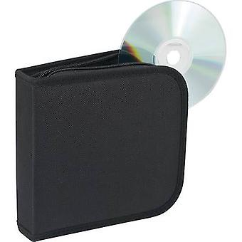 Renkforce caja de CD para 28 CD negro 28 CDs/DVDs (W x H x D)