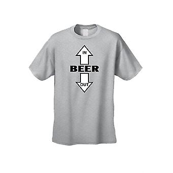 Men's/Unisex Beer Goes In, Beer Comes Out Short Sleeve T-Shirt