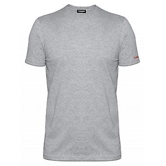 DSQUARED2 Underwear DSQUARED2 Slim Fit Light Grey Crew Neck T-Shirt