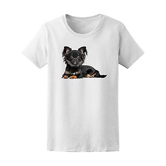 Long-Haired Chihuahua Puppy Tee Women's -Image by Shutterstock