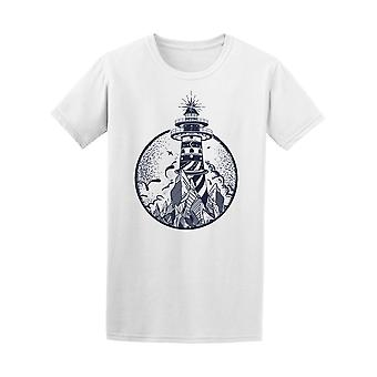 Lighthouse And Panoramic View Tee Men's -Image by Shutterstock