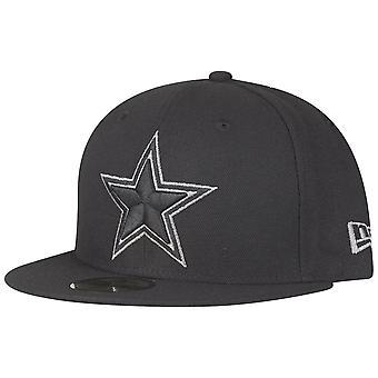 Nowa era 59Fifty zamontowane Cap - Dallas Cowboys czarny / szary