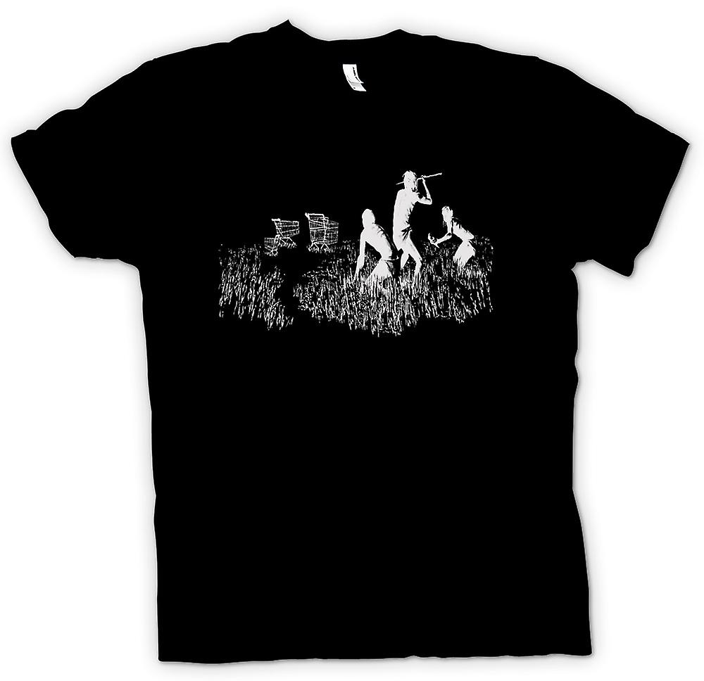 Mens T-shirt - Banksy Graffiti Art - Hunters