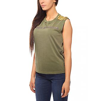 Replay Fransen topp army stil khaki