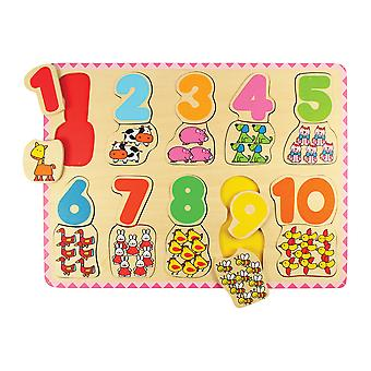 Bigjigs Toys Number and Colour Matching Puzzle - Educational Jigsaws