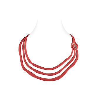 Collar woman Ras Triptic effect tattoo in Silicone red neck