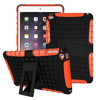 Para Apple iPad 9,7 2018 híbrido exterior protector funda Funda bolso naranja