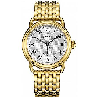 Rotary mens Canterbury gold plated Bracelet GB05338/21 Watch