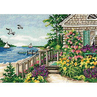 Gold Petite Bayside Cottage Counted Cross Stitch Kit-7