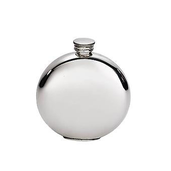Plain Pewter round Flask - 6oz