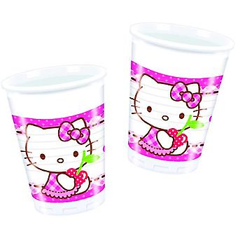 Hello Kitty hearts kitten party Cup drinking cups 200ml 8 piece children birthday theme party