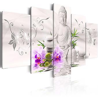 Duk Print - vit Buddha