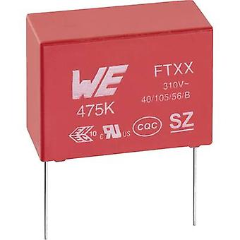 Würth Elektronik WCAP-FTXX 890334023023CS X2 suppression capacitor Radial lead 100 nF 310 V AC 10 % 10 mm (L x W x H) 1