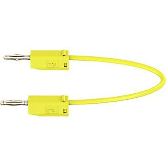Stäubli LK205 Test lead [Banana jack 2 mm - Banana jack 2 mm] 0.45 m Yellow