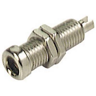 SKS Hirschmann BU 10 Jack socket Socket, vertical vertical Pin diameter: 4 mm Nickel-coated 1 pc(s)