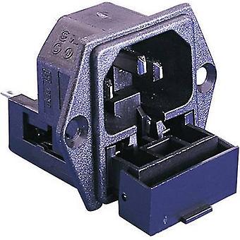 IEC connector PF Series (mains connectors) PF Plug, vertical mount