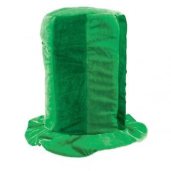 Union Jack Wear Green Tall Top Hat