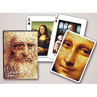 ليوناردو دا فينشي مجموعة من أوراق اللعب 52 + النكاتون